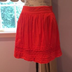 Loft cotton skirt with eyelet trim